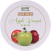 "Fragrances, Perfumes, Cosmetics Dry Hair Mask ""Apple Vinegar"" - ECO U Apple Vinegar Hair Mask For Dry Hair"