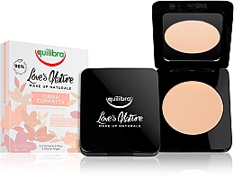 Fragrances, Perfumes, Cosmetics Compact Face Powder - Equilibra Love's Nature Compact Face Powder