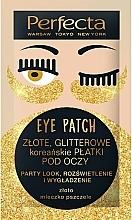 Fragrances, Perfumes, Cosmetics Eye Patch - Perfecta Gold Glitter Eye Patch