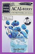 "Fragrances, Perfumes, Cosmetics Face Mask ""Blueberry"" - Mediental Botanic Garden Mask"