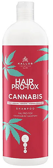 Hair Shampoo with Hemp Seed Oil - Kallos Pro-tox Cannabis Shampoo