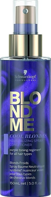 Neutralizing Spray Conditioner for Cool Blonde Hair - Schwarzkopf Professional Blondme Cool Blondes Neutralizing Spray Conditioner