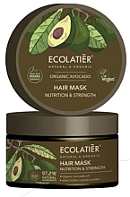 "Fragrances, Perfumes, Cosmetics Hair Mask ""Nutrition and Strength"" - Ecolatier Organic Avocado Hair Mask"