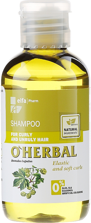 Hops Extract Shampoo for Curly & Unruly Hair - O'Herbal