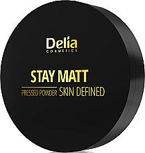 Fragrances, Perfumes, Cosmetics Compact Mattifying Powder - Delia Stay Matt Skin Defined Pressed Powder