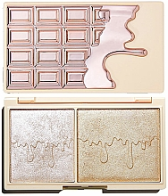 Fragrances, Perfumes, Cosmetics Highlighter Palette - I Heart Revolution Chocolate Rose Gold Glow