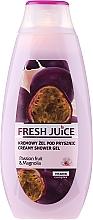 "Fragrances, Perfumes, Cosmetics Shower Cream-Gel ""Passion Fruit and Magnolia"" - Fresh Juice Creamy Shower Gel Passion Fruit & Magnolia"