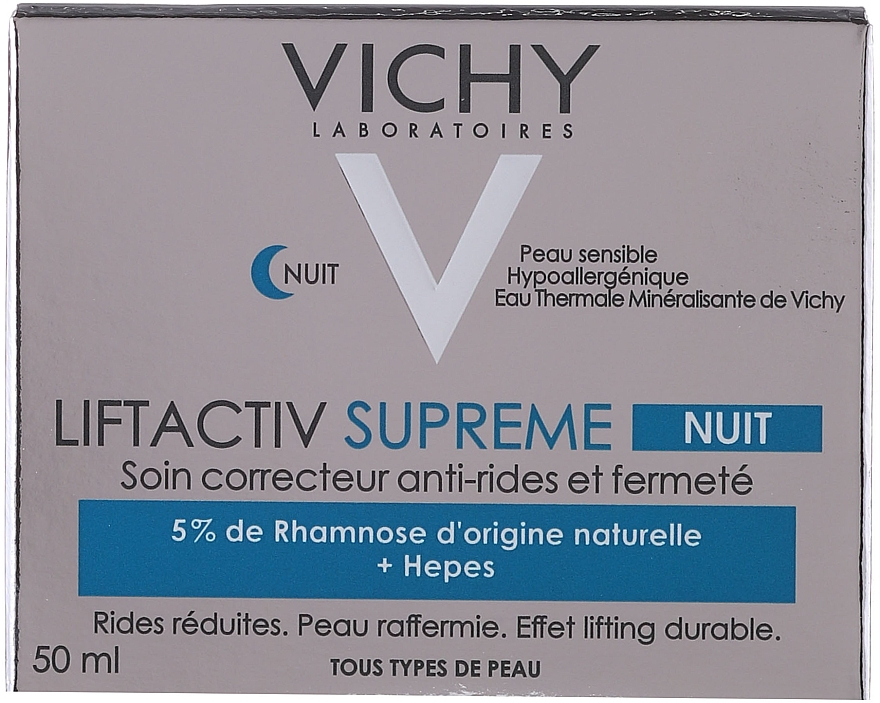 Anti-Wrinkle and Lifting Night Cream - Vichy LiftActiv Nuit Derm Source