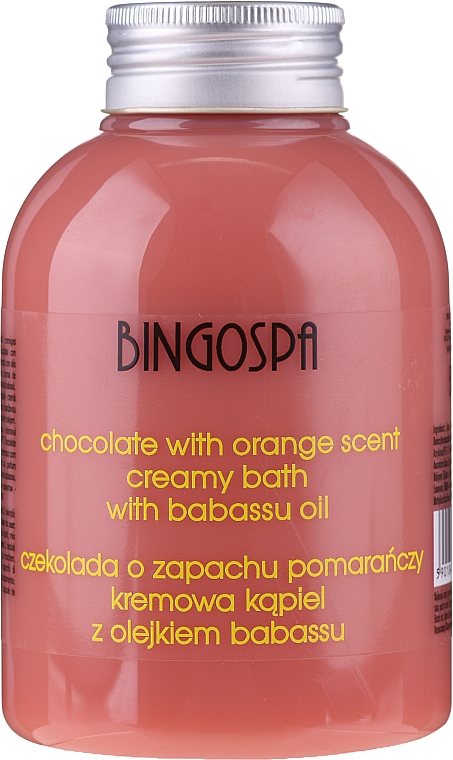 Chocolate & Orange Extracts Bath Cream - BingoSpa