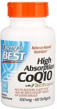Fragrances, Perfumes, Cosmetics High Absorption Coenzyme Q10 with Bioperine, 100mg, softgels - Doctor's Best