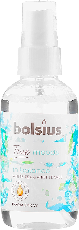 """Aromatic Spray """"White Team and Mint Leaves"""" - Bolsius Room Spray True Moods In Balance"""
