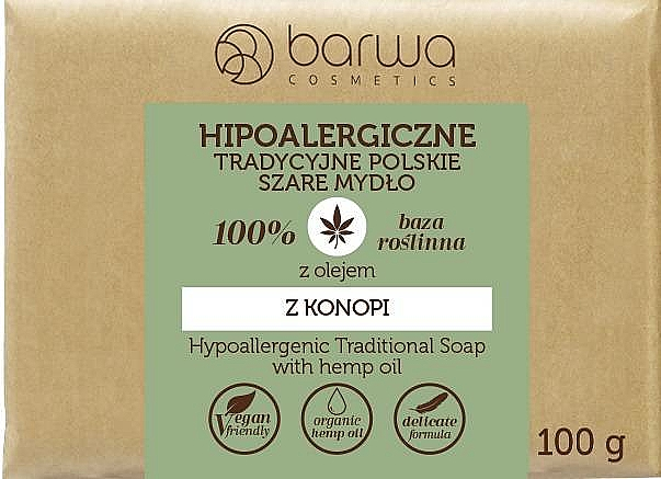 Traditional Soap with Hemp Oil - Barwa Hypoallergenic Traditional Soap With Hemp Oil