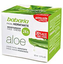Fragrances, Perfumes, Cosmetics Moisturizing Aloe Vera Face Cream - Babaria Aloe Vera 24-Hour Moisturising Face Cream