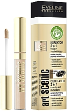 Fragrances, Perfumes, Cosmetics Liquid Concealer 2 in 1 with Applicator - Eveline Cosmetics Art Scenic Professional Make-up Concealer 2 In 1