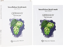 """Fragrances, Perfumes, Cosmetics Sheet Mask """"Germany"""" - Calluna Medica Germany Sebum Control Biocellulose Facial Mask"""