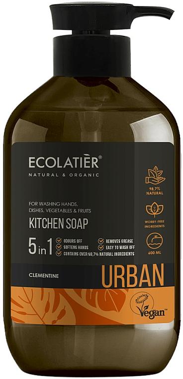 "Liquid Kitchen Soap ""Clementine"" - Ecolatier Urban Liquid Soap"