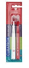 Fragrances, Perfumes, Cosmetics Ultrasoft Toothbrush Set, red, white - Curaprox Kids Swiss School Toothbrush