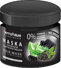Fragrances, Perfumes, Cosmetics Activated Carbon Hair Mask - DermoFuture Hair Mask With Activated Carbon