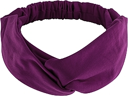 "Fragrances, Perfumes, Cosmetics Headband, Knit Cross, purple, ""Knit Twist"" - MakeUp Hair Accessories"