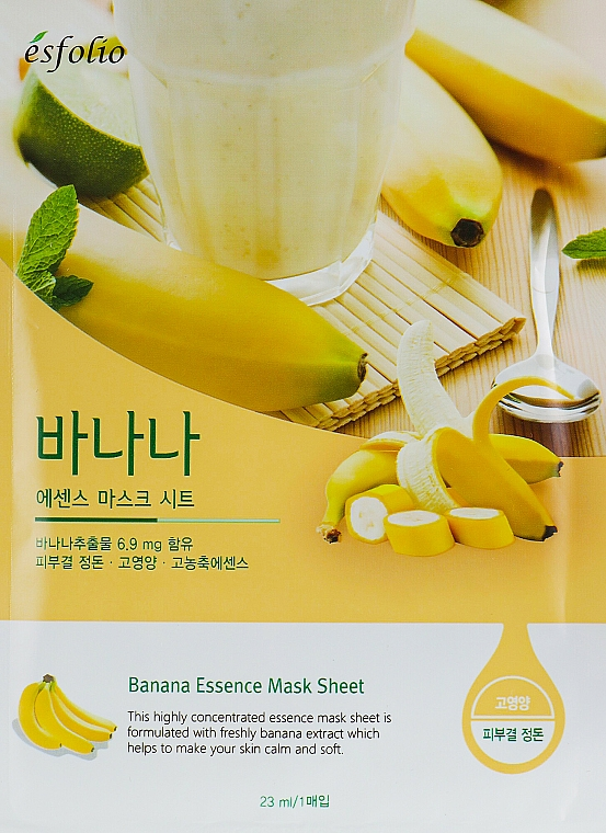 Banana Sheet Mask - Esfolio Essence Mask Sheet