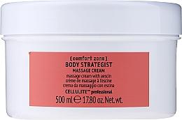 Fragrances, Perfumes, Cosmetics Massage Anti-Cellulite Escin Body Cream - Comfort Zone Body Strategist Massage Cream