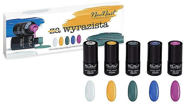 Set - NeoNail Professional Wyrazista Set (5xnail/polish/3ml) — photo N1