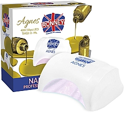Fragrances, Perfumes, Cosmetics Nail Lamp LED, white - Ronney Profesional Agnes LED 48W (GY-LED-032)