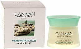 Fragrances, Perfumes, Cosmetics Nourishing Cream for Normal & Oily Skin - Canaan Minerals & Herbs Nourishing Facial Cream Normal to Oily Skin