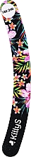 Fragrances, Perfumes, Cosmetics Banana Nail File 180/240, black with flowers  - KillyS Love Watermelon With Banana