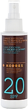 Fragrances, Perfumes, Cosmetics Tanning Oil - Korres Clear Sunscreen Body Face Walnut Coconut Oil SPF20