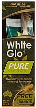 """Fragrances, Perfumes, Cosmetics Set """"Natural Cleansing"""" with Bamboo Brush - White Glo Pure & Natural (t/paste/85ml + t/brush/1)"""