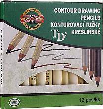 Fragrances, Perfumes, Cosmetics Eye and Brow Contouring Pencils - Koh-I-Noor Contour Drawing Pencils (12pcs)