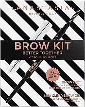 Fragrances, Perfumes, Cosmetics Set - Anastasia Beverly Hills Better Together Brow Kit Soft Brown (pencil/0.08g + gel/2.5g)
