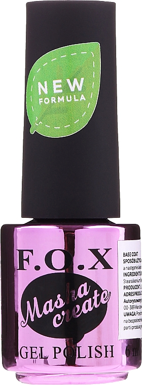 Gel Polish Base Coat - F.O.X Masha Create Color Base