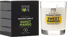 "Fragrances, Perfumes, Cosmetics Natural Massage Candle ""Mango"" - Sezmar Collection"