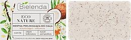Fragrances, Perfumes, Cosmetics Coconut Body Soap-Scrub - Bielenda Eco Nature Body Peeling Bar Vanilla Coconut Milk Orange