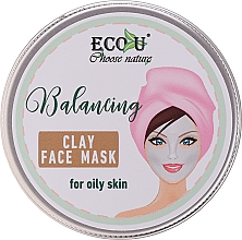 Fragrances, Perfumes, Cosmetics Balancing Clay Face Mask for Oily Skin - Eco U Balancing Clay Face Mask For Oily Skin