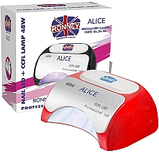 Fragrances, Perfumes, Cosmetics Lamp CCFL+LED, red - Ronney Profesional Alice Nail CCFL+LED 48w (GY-LCL-015D) Lamp