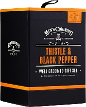 Fragrances, Perfumes, Cosmetics Scottish Fine Soaps Men's Grooming Thistle & Black Pepper - Set (edt/50ml + b/wash/75ml + ash/balm/75ml)