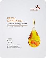 """Fragrances, Perfumes, Cosmetics Face Sheet Mask """"Fresh Tangerine"""" - Aroma Yong Aromatherapy Mask Fresh Mandarin"""