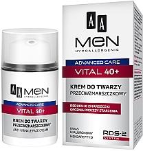 Fragrances, Perfumes, Cosmetics Anti-Wrinkle Men Face Cream - AA Men Advanced Care Vital 40+ Face Cream Anti-Wrinkle