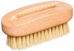 Fragrances, Perfumes, Cosmetics Oval Hand & Nail Brush, cactus fiber, beige - Miamed