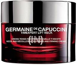 Fragrances, Perfumes, Cosmetics Lifting Neck and Decollete Cream - Germaine de Capuccini TimExpert Lift (In) Neck Tautening & Firming Cream
