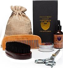 Fragrances, Perfumes, Cosmetics Set - Yoshimoto Gentleman's Code ST058 (comb + scissors + wax/30g + oil/30ml/ + comb + bag)