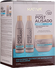 Fragrances, Perfumes, Cosmetics Set - Kativa Straightening Post Treatment Keratin (shm/250ml + cond/250ml + mask/250ml)