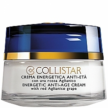 Fragrances, Perfumes, Cosmetics Energetic Anti-Age Regenerating Cream with Grape - Collistar Energetic Anti-Age Cream with red Aglianico Grape