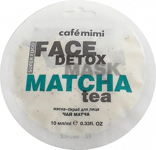 "Face Scrub Mask ""Matcha & Aloe Vera"" - Cafe Mimi Face Mask"