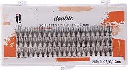 Fragrances, Perfumes, Cosmetics Individual Lashes, C 13 mm - Ibra 20 Flares Eyelash Knot-fre Naturals