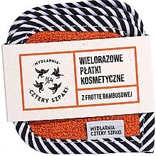 Fragrances, Perfumes, Cosmetics Reusable Cotton Pads with Bamboo Scruber, 5 pcs - Cztery Szpaki
