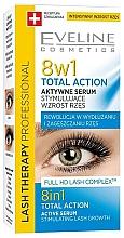 Fragrances, Perfumes, Cosmetics 8-in-1 Lash Serum - Eveline Cosmetics Eyelash Serum Total Action 8in1